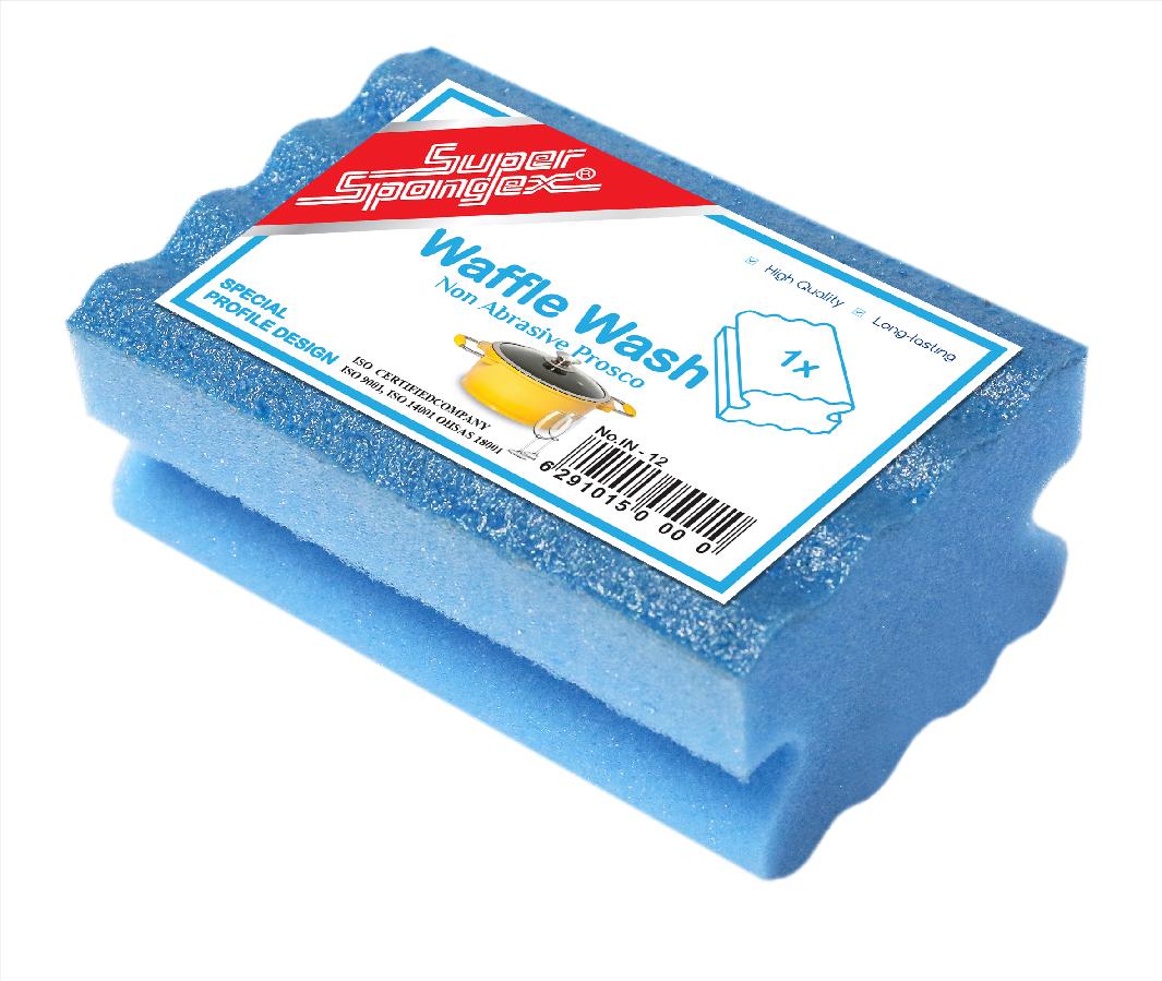 Waffle Wash Sponge With Prosco
