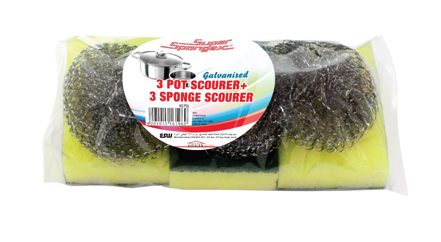 Metal Pot Scourer + Sponge Scourer