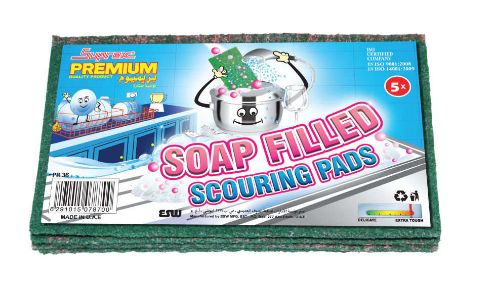 Soap Filled Scouring Pads