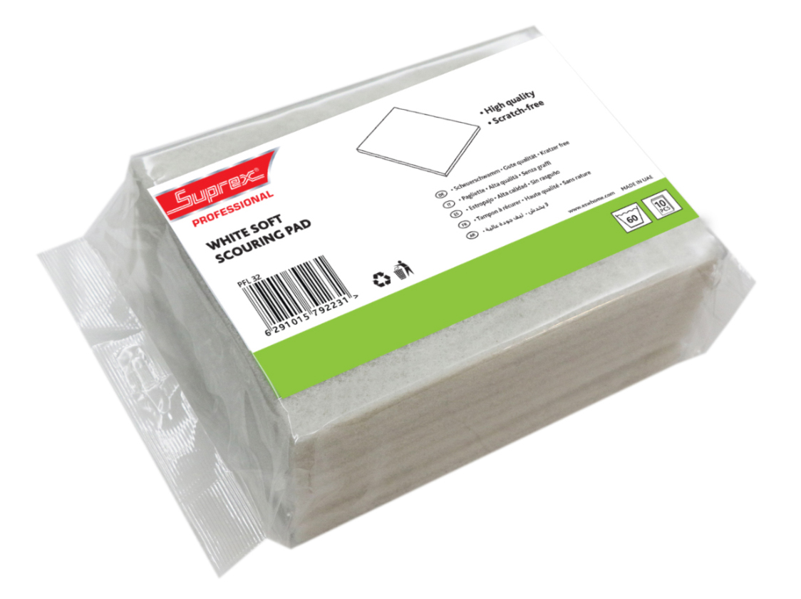 White Soft Scouring Pad