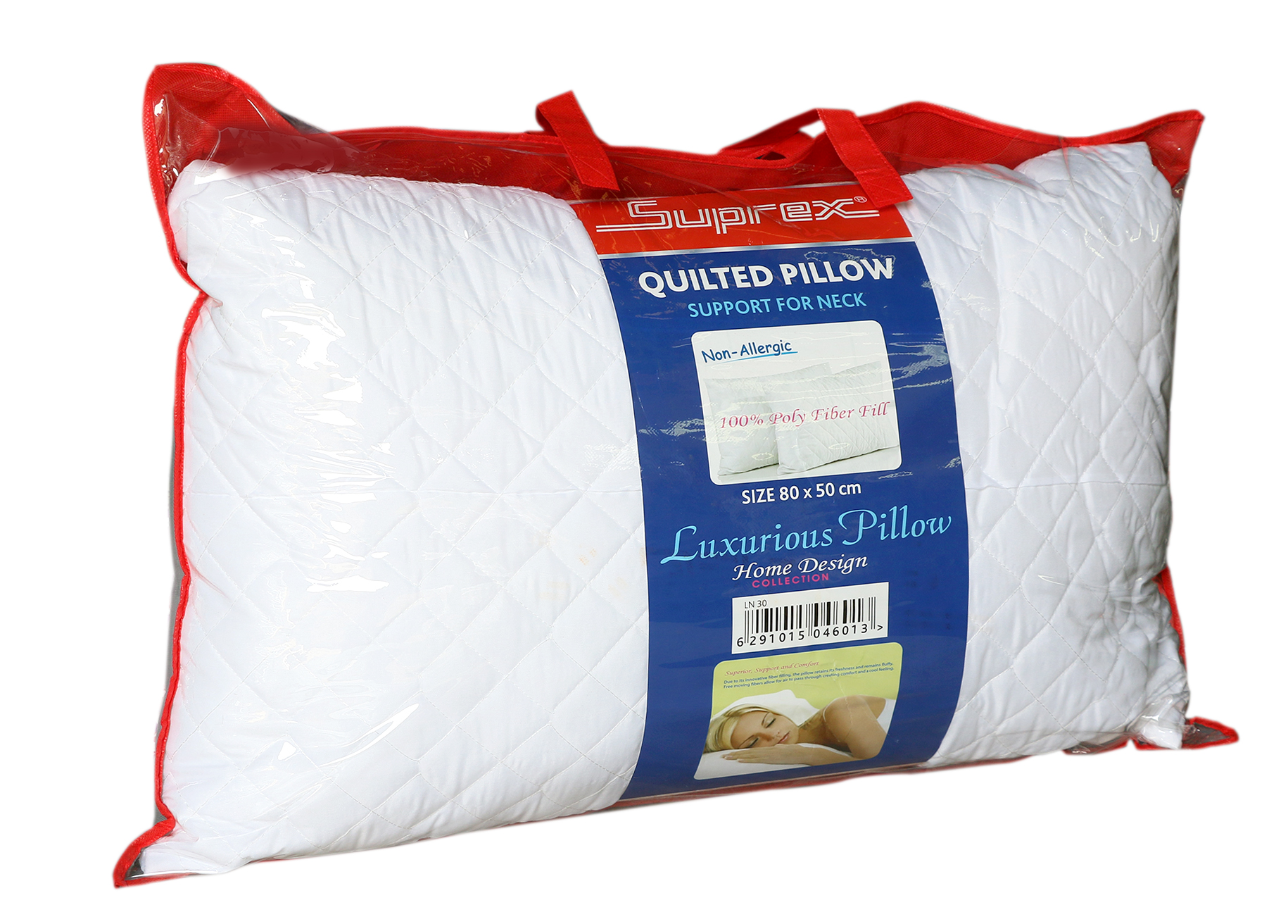 Quilted Pillow with Zipper bag
