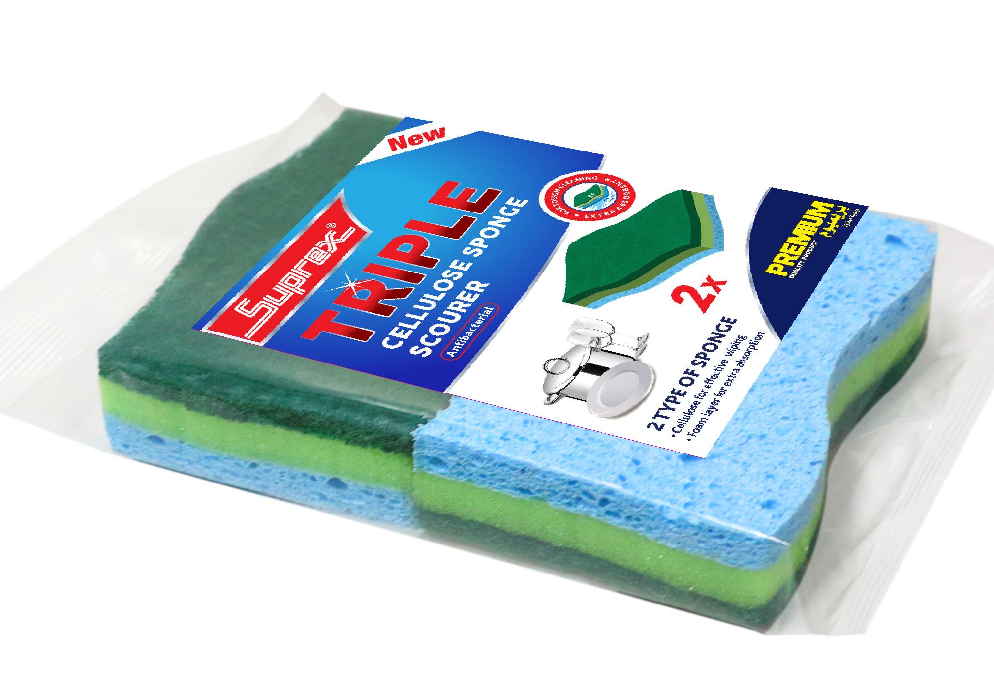 Triple Cellulose Sponge Scourer