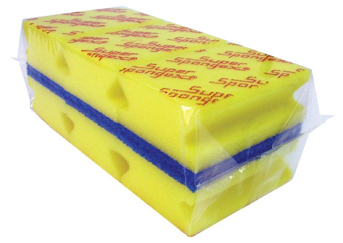 Grooved Sponge Scourer Printed