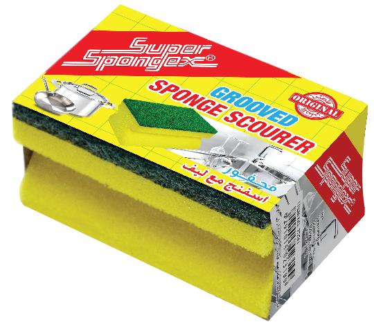 Yellow Grooved Sponge Scourer
