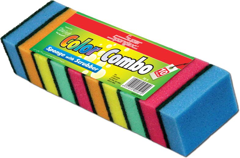 Sponge Scourer (Color Combo)-Non-scratch sponge scourer