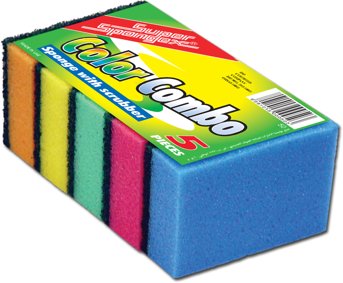 Sponge Scourer (Color Combo)-Versatile, Assorted colour scourer