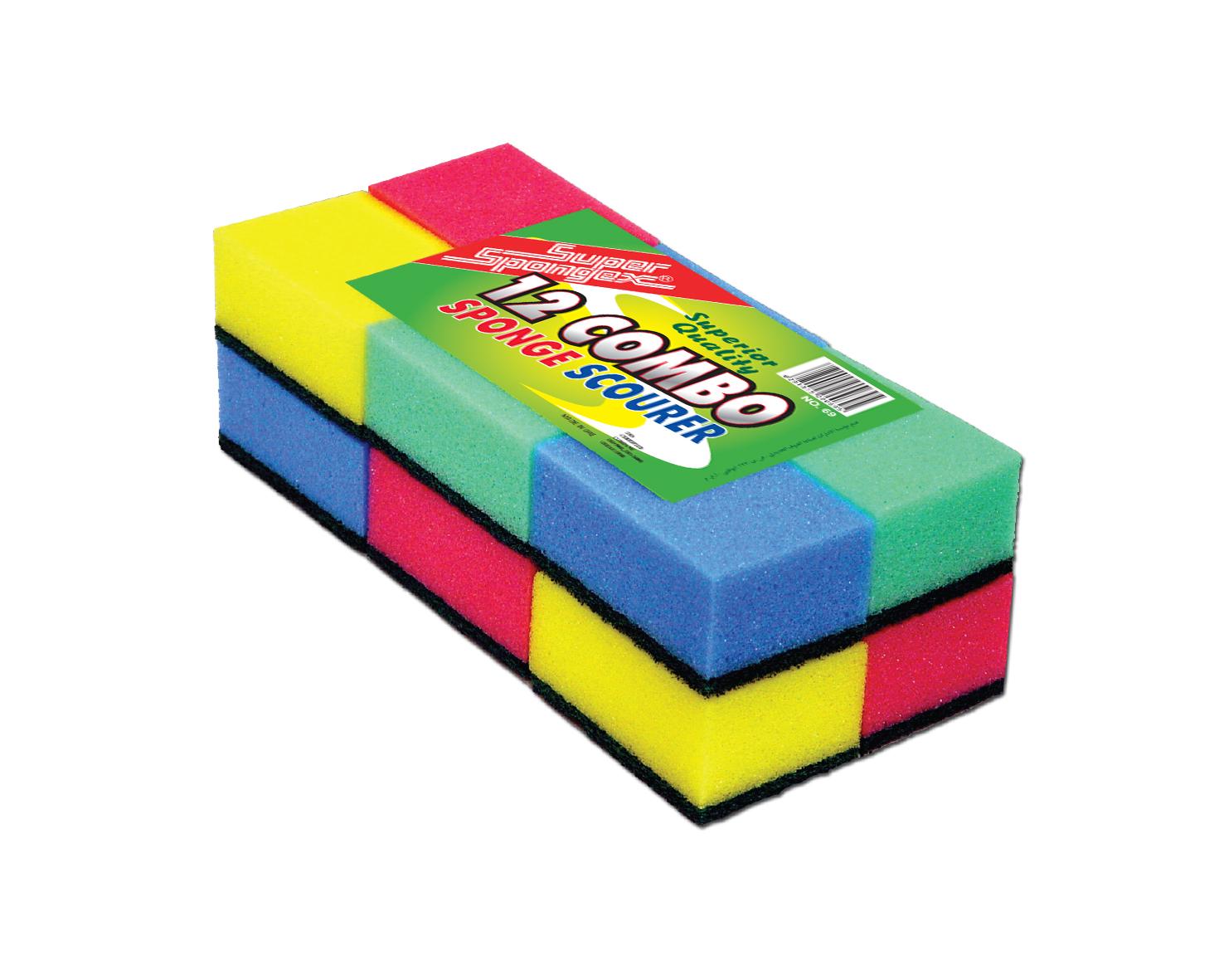 Assorted Colour Sponge Scourer (HQ)