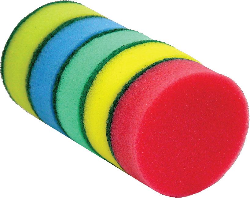 Round Sponge Scourer- Utensil Cleaner round sponge scourer