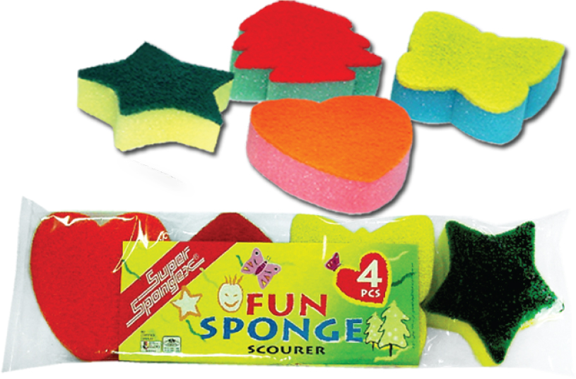 Fun Sponge Scourer- Multi Purpose & multi color sponge scourer
