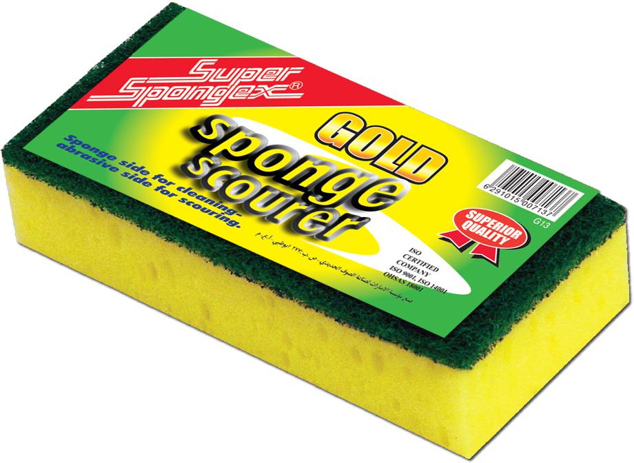 Combo Sponge Scourer (Gold)