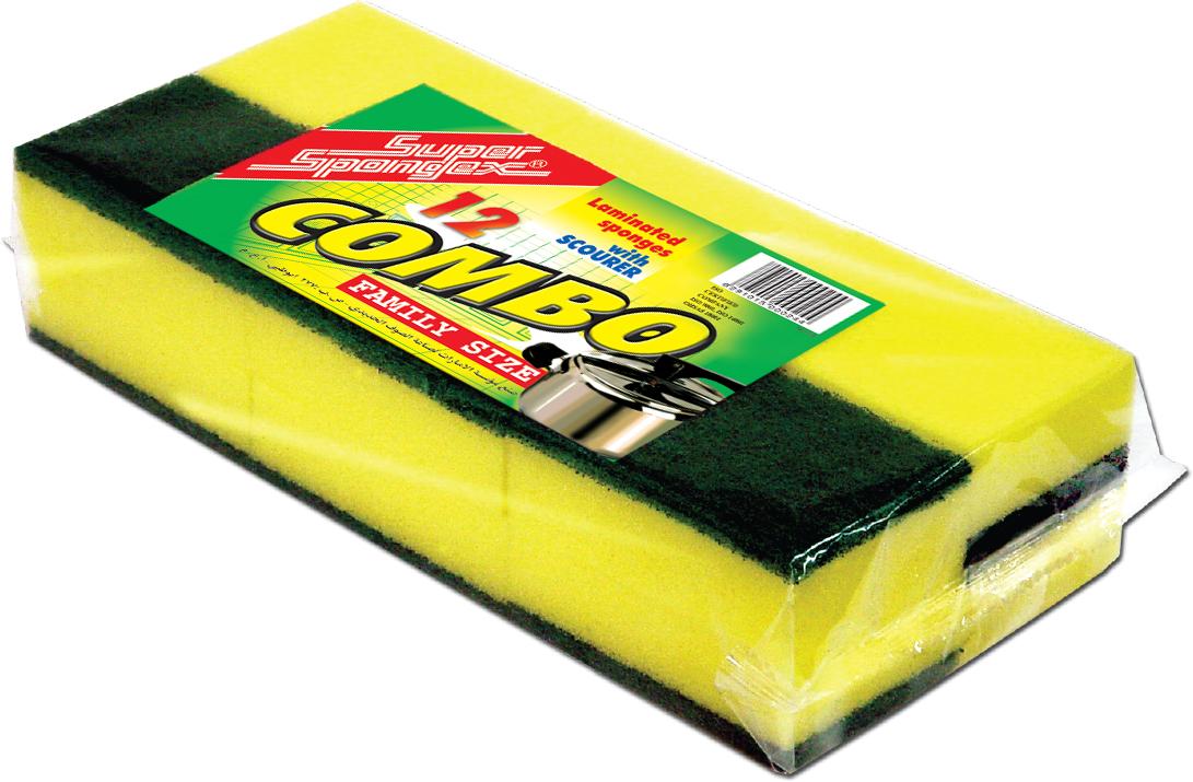 Combo Sponge Scourer (Family Size)-Versatile&Tough on Stains sponge scrubber