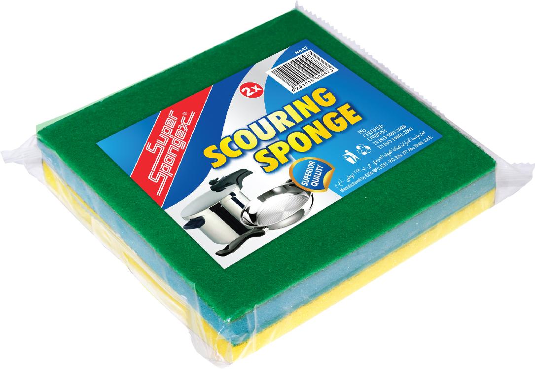 Scouring Sponge-Sponge scourer for deep cleaning & heavy duty scrubbing