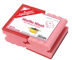 Waffle Wash Sponge With Scourer