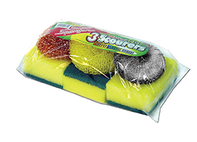 Multi Pot Scourer + Sponge Scourer
