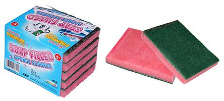 Soap Filled Sponge Scourer