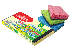 CELLULOSE SPONGE WITH SCOURER