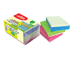 CELLULOSE SPONGE WITH NON SCRATCH SCOURER
