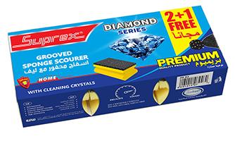 Grooved Sponge Scourer - Diamond Series