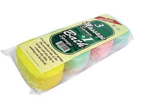 3 Massage Sponge + 1 Bath Sponge