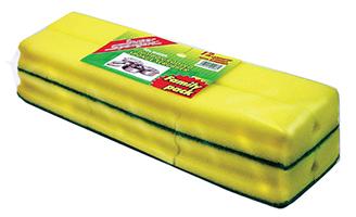 Grooved Sponge Scourer (Family Pack)