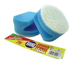 Round Grooved Sponge Scourer