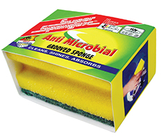 Anti Microbial Grooved Sponge Scourer