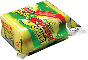Grooved Sponge Scourer in Foil Pack