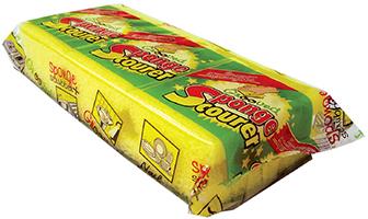 Grooved Sponge Scourer in Printed Foil Pack