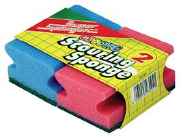 Assorted Colour Grooved Sponge Scourer