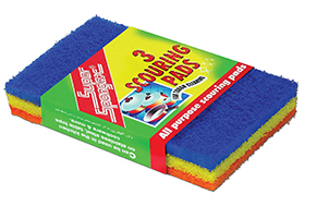 Multicolour Scouring Pads in Sleeve