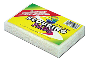 Scouring Pads-White (Non Scratch)